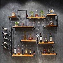 GDSKL Casier à vin Armoire à vin murale