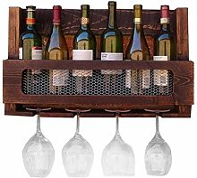 GDSKL Casier à vin en bois mural porte-bouteilles