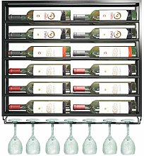 GDSKL Casier à vin mural en métal fer à vin