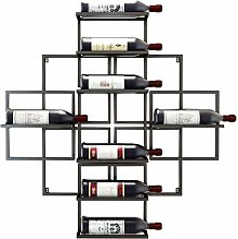 GDSKL Casier à vin mural suspendu porte-bouteille