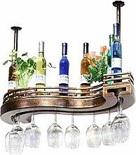 GDSKL Casier à vin Porte-verres à pied