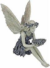 GDZTBS Statue de Fée Assise, Sculpture de Jardin