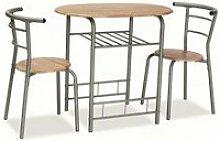 Gebo - ensemble table + 2 chaises - table 80x53x74