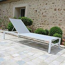 Gecko Jardin Bain de Soleil Aluminium Blanc