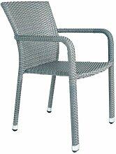 Gecko Jardin - Chaise en résine tressée plate