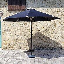 Gecko Jardin Parasol Noir en Bois 350 cm Bilbao