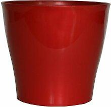 Geda 2822-R Casablanca Cache-Pot Rond Rouge