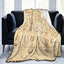 GEHIYPA Couverture en Flanelle Fine Confortable,