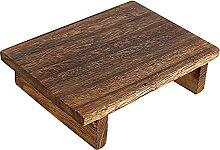 GeKLok Marchepied en bois pour adultes, portable,