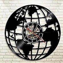 GenericBrands Horloge Vinyle Carte du Monde
