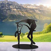 Generic Kiss Horse Sculpture Statue moderne en
