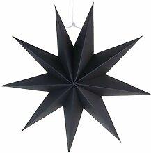 Générique Abat- Jour en Papier Étoile Noir 30Cm