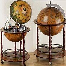 Générique Bar Globe Terrestre Mappemonde en Bois