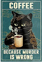 Générique Cat Tattoo Coffee Because Murder is