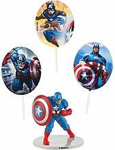 Générique - Kit de Decoration Marvel Captain