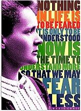 Générique Marie Curie Inspirational Quote Design