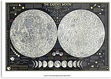 Générique Moon Map Stars -Imprimer Une Affiche