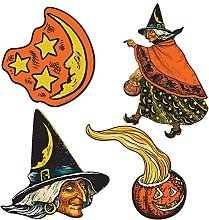 Generique - Set décoration sorcière Halloween