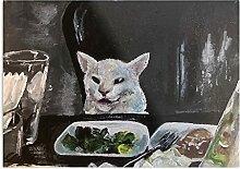 Générique Table Cat Design & Art Print Affiche