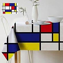 Géométrique Couleur Art Mondrian Plaid Motif