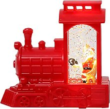 Gergxi Décoration de Noël Père Noël en train