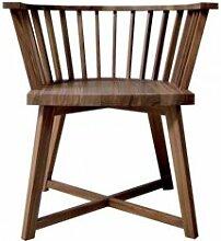 GERVASONI fauteuil GRAY 24 (bois noyer Canaletto -