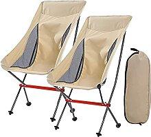 GGCG 2 Ensembles Chaise de Camping Pliante,