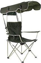 GGCG Chaise de Camp avec Ombre, Chaise de Camping