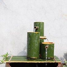 GGYDD Fonction d'eau De Bambou Statue,Fontaine