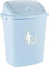 GHFHF Flip poubelle en plastique de la poubelle de