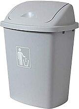 GHFHF Poubelle en plastique poubelle 65L de grande
