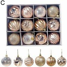 ghhshjhlk 12pcs 6cm Boule De Noël Boules De Noël