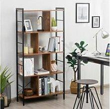 Giantex bibliothèque industriel etagère de