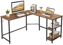Giantex bureau d'angle en forme l avec 2