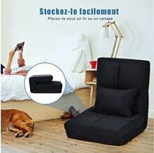 Giantex  chaise longue réglable fauteuil relax de