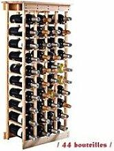 Giantex étagère à vin casier à 44 bouteilles