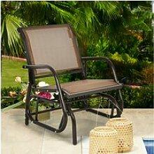 Giantex fauteuil à bascule de jardin, chaise à