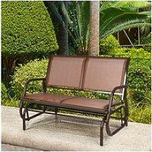 Giantex fauteuil à bascule de jardin extérieur