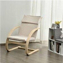 Giantex fauteuil à bascule en bois de bouleau