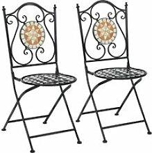 Giantex lot de 2 chaise de jardin pliable,style