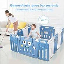 Giantex parc bébé 16 panneaux pliable, aire de