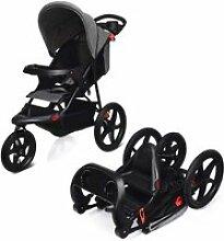 Giantex  poussette 3 roues pliable pour bébé