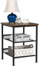 GIANTEX Table Basse avec 3 Etagères en Panneaux