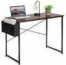 Giantex table de bureau de travail avec sac de