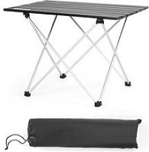 Giantex table de camping pliable en aluminium