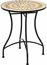 Giantex table de jardin style mosaïque, cadre en