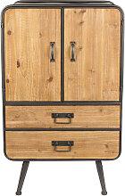 Gin - Buffet haut vintage bois et métal