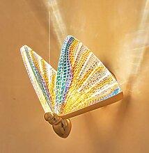 GIOAMH Applique murale papillon, lampe murale
