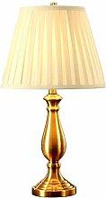 GIOAMH Lampe de table américaine en cuivre rétro