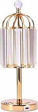 GIOAMH Lampe de Table en cristal chambre lampe de